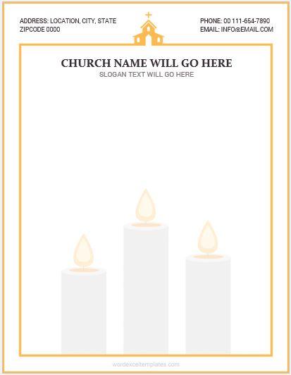 MS Word Church Letterhead Template