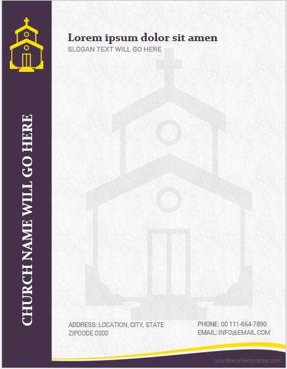 MS Word Church Letterhead Template