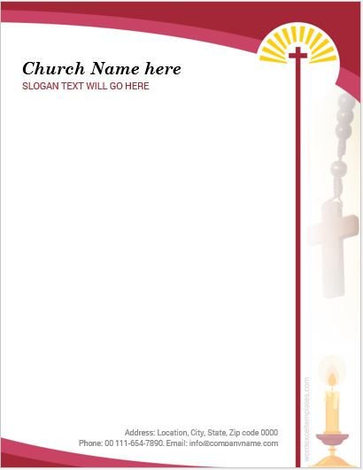 Best Ms Word Church Letterhead Templates  Word  Excel Templates