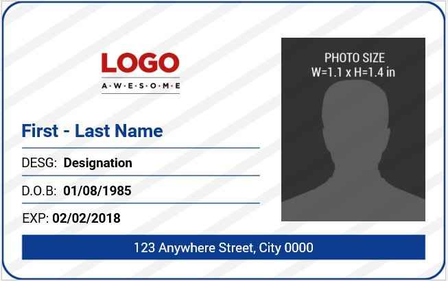 Office Employee ID Card Template