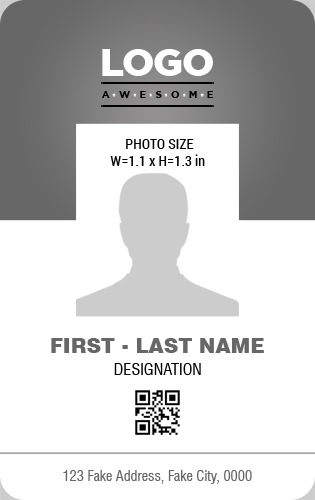 Vertical Design Employee Photo ID Badge Templates | Word ...