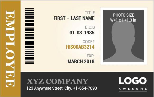 Employee Identification Card