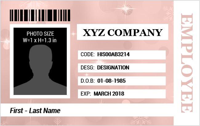 Employee Identification Card Template