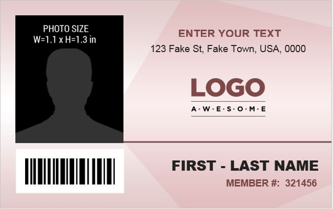 Office Employee ID Badge Template