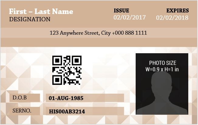 Employee Photo ID Badge Template