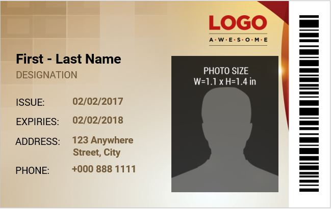 employee identification card templates ms word
