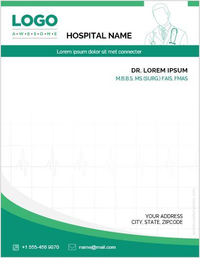 MS Word Letterhead Template for Hospital