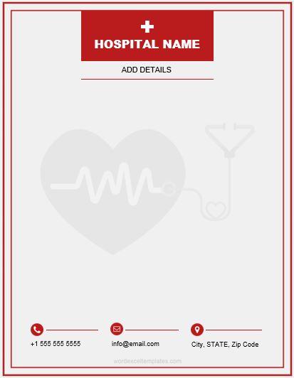 MS Word Letterhead Template for Hospital & Clinics