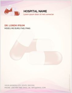Letterhead Template for Hospital