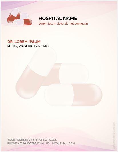 Letterhead Template for Hospital