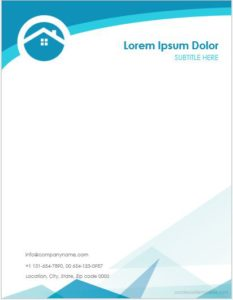 MS Word Real Estate Letterhead Template