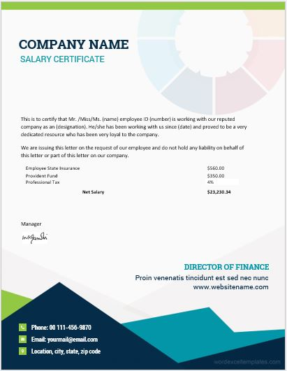 10 Best Salary Certificate Templates For Ms Word Word