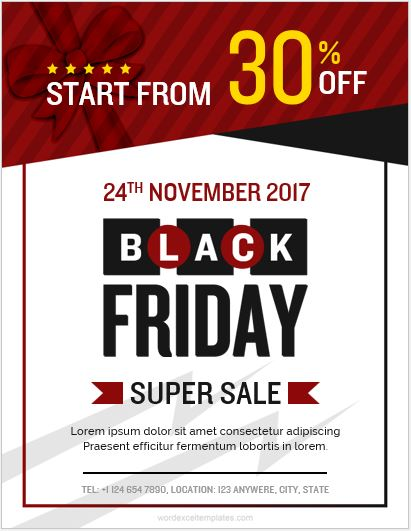 5 Best Black Friday Flyer Templates Ms Word Word Excel Templates