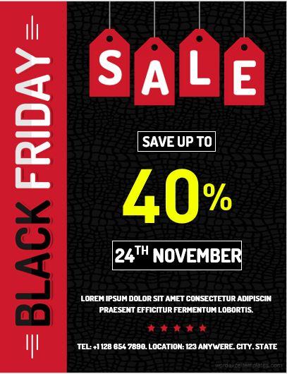 Black Friday Flyer Sample