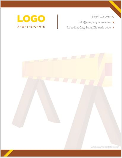 5 best construction business letterhead templates ms word