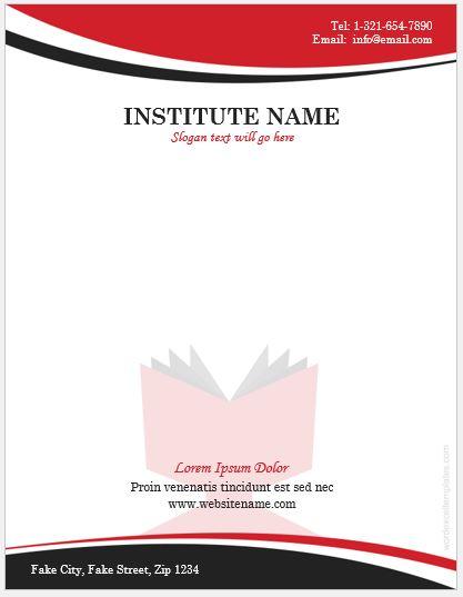 Educational Institute Letterhead Template