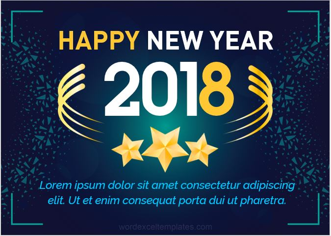 New Year Greeting Card 2018
