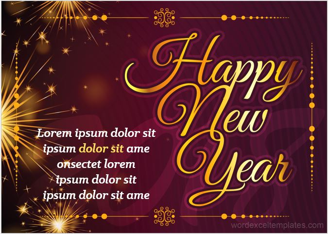 New Year Wishing Card