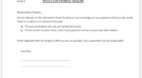 Payment Inquiry Form Template