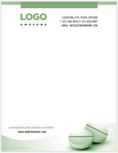 Pharmacy Letterhead