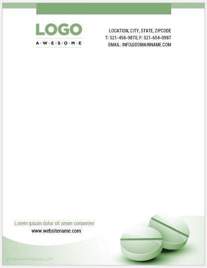 Pharmacy Letterhead