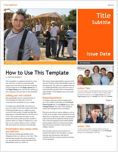 Business Newsletter for MS Word
