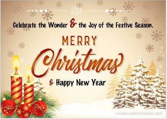 Christmas wish card
