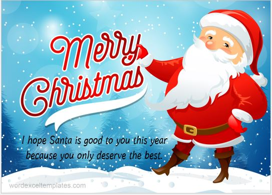 Merry Christmas Wish Card