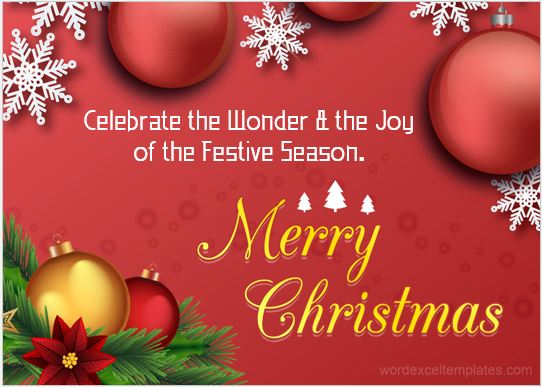 Christmas wish card 2017-18
