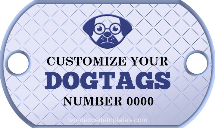 Dog Tag Template