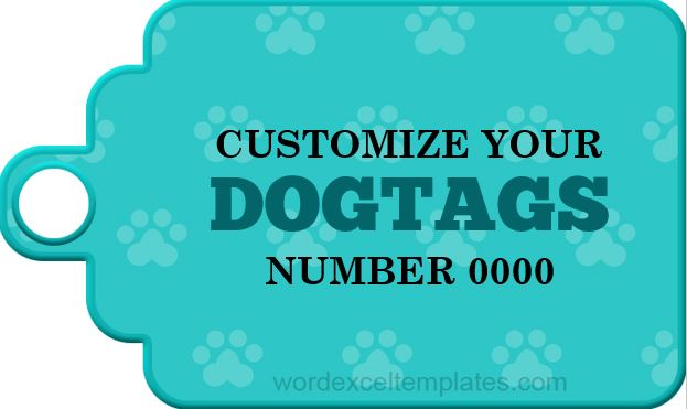 Dog Tag Sample