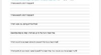 Employee injury report form