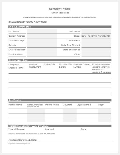 Form templates