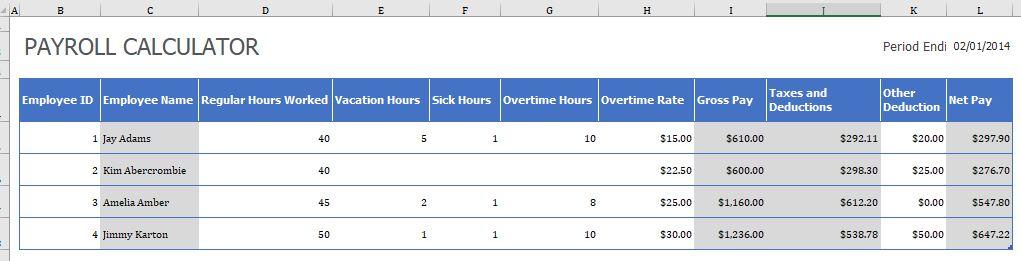 weekly  biweekly  u0026 monthly payslip templates