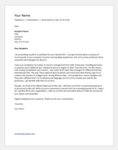 Job cover letter for entry level applicant