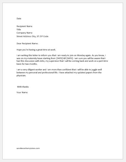 Sample Letter To Previous Employer For Rejoining from www.wordexceltemplates.com