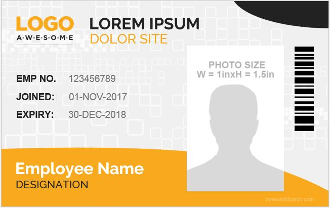 photo id badge templates for 2019 20 word excel templates. Black Bedroom Furniture Sets. Home Design Ideas