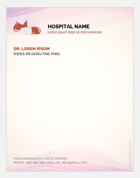 Doctor prescription pad template