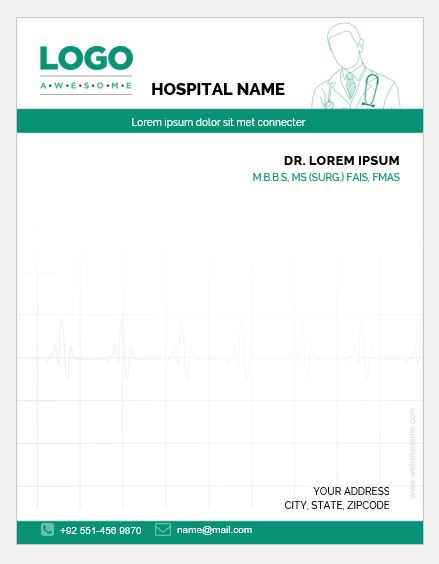 Prescription Pad Template | 5 Doctor Prescription Pad Templates For Ms Word Word Excel Templates