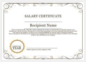 Salary certificate