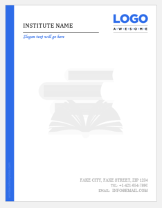 Academic letterhead template