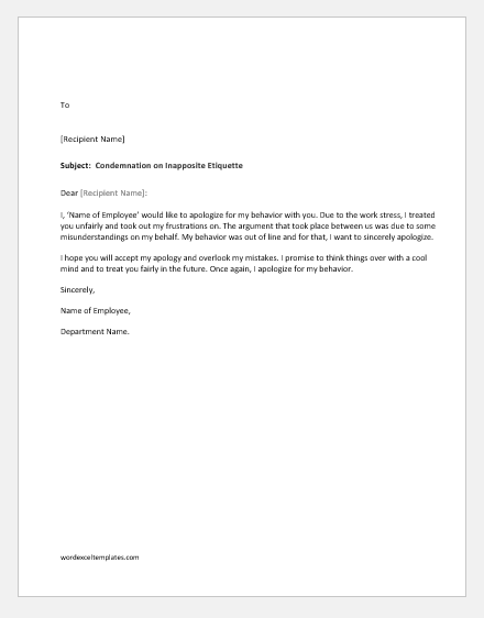 9 Apology Letters for Bad Behavior to Different People