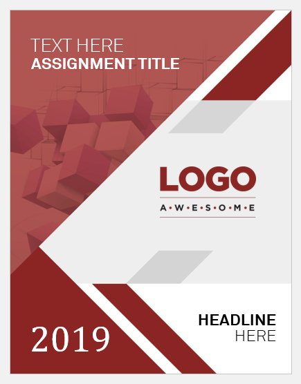 Assignment cover page template
