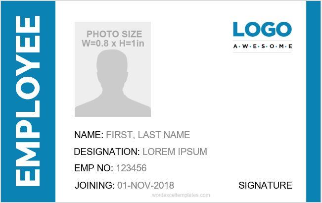 Company ID Card Template