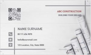 Construction Company Workers Business Card