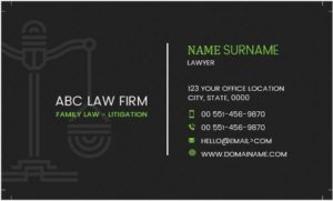 Business Card Template for Attorney