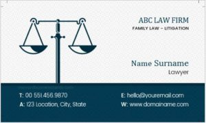 Attorney Business Card Sample
