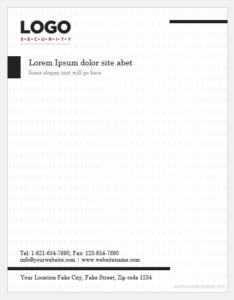 Security company letterhead template
