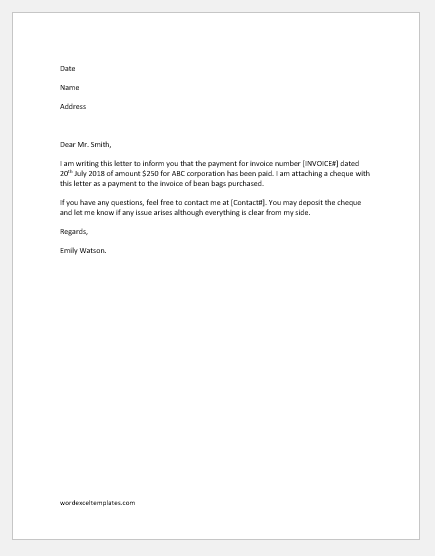 remittance advice letter template