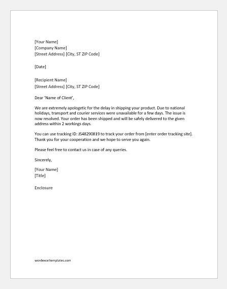 professional apology letters to client  customer